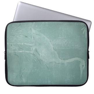 White Heron!!! Laptop Sleeve