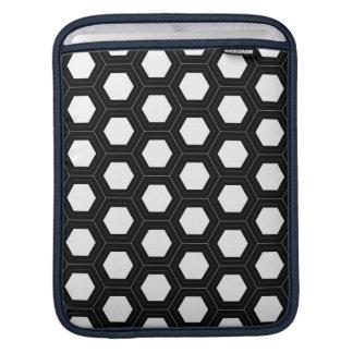 White Honeycomb (Customizable Background) iPad Sle iPad Sleeve