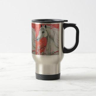 White Horse Design Travel Mug