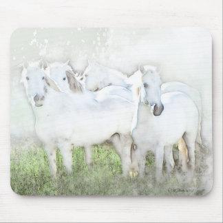 White Horses Mouse Pad Design