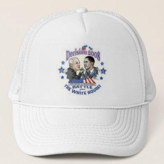 white hot trucker hat