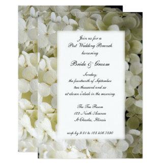 White Hydrangea Flower Post Wedding Brunch Invite