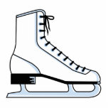 white ice skate vector graphic