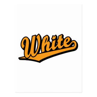 White in Orange Post Card