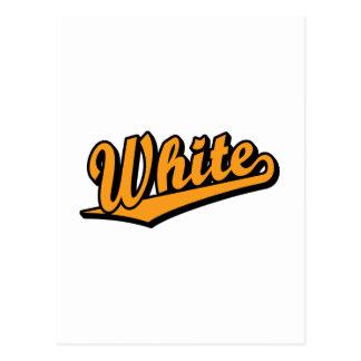 White in Orange Post Cards