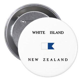 White Island New Zealand Alpha Dive Flag 7.5 Cm Round Badge