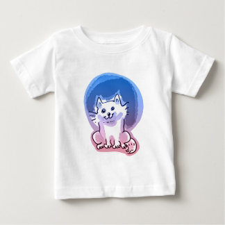 white kitty cartoon style illustration baby T-Shirt