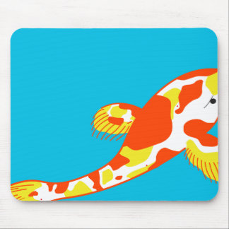 White Koi Fish Mouse Pad