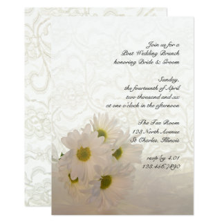 White Lace and Daisies Post Wedding Brunch Invite