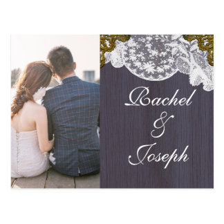 White Lace and Ultra Violet Wood Postcard
