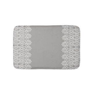 White Lace Bathroom Mat Bath Mats