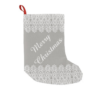 White Lace Christmas Stocking