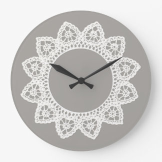 White Lace Clock