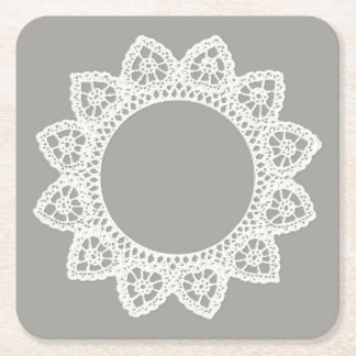 White Lace Coaster