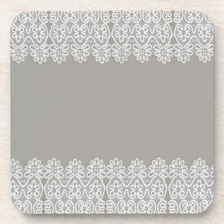 White Lace Coaster Set