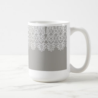White Lace Coffee Mug