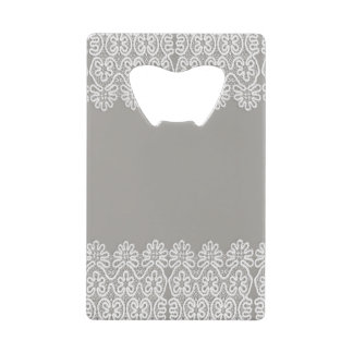 White Lace Credit Card Bottle Opener