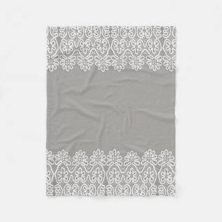 White Lace Fleece Baby Blanket