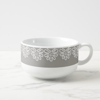 White Lace Soup Cup