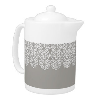 White Lace Tea Pot