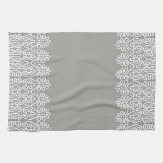 White Lace Tea Towel