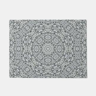 White Leaf Pattern   Door Mats Doormat