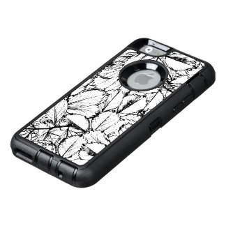 White Leaves OtterBox Defender iPhone Case