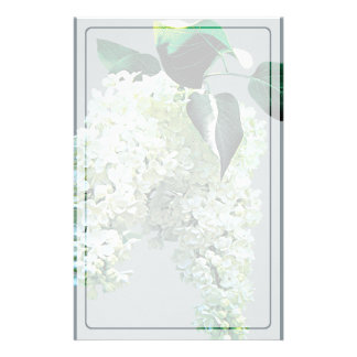 White Lilacs Stationery