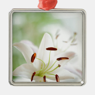White Lily Flower Fully Open Christmas Ornament