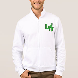 White LJB Fleece Zip Jogger Jacket