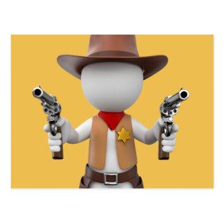 White Loui sheriff postcard