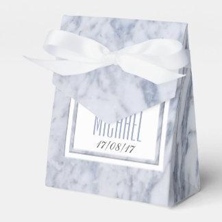 White Marble Wedding Stationery Wedding Favour Boxes