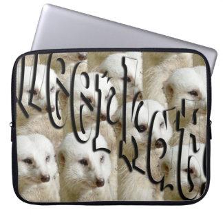 White Meerkat Army Logo, 15 inch Laptop Sleeve