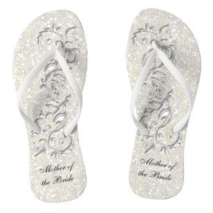 3ce6d1e28bd4 White Metallic Floral   Confetti Glitter
