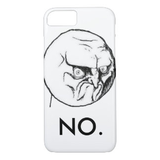 "White ""NO."" meme Funny iPhone 7 Case"