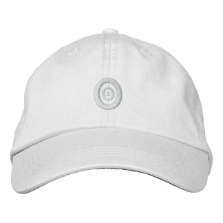 White On White Concentric Embroidery Hat Embroidered Hats