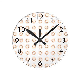 White & Orange Apple Blossoms Clocks
