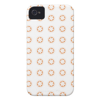 White & Orange Apple Blossoms iPhone 4 Covers