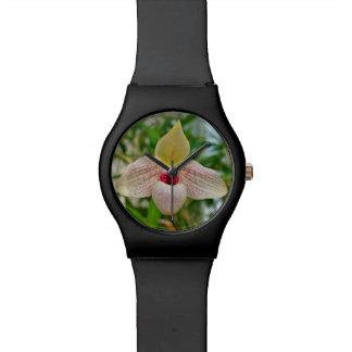 White Orchid Flower Wristwatch