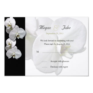 White Orchid RSVP Invitation