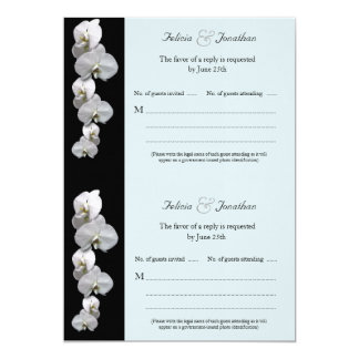 White Orchids RSVP Card