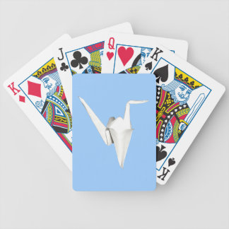 White Paper Crane Playing Cards