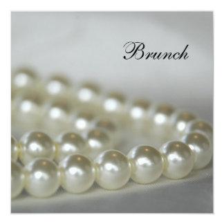 White Pearls Post Wedding Brunch Invitation