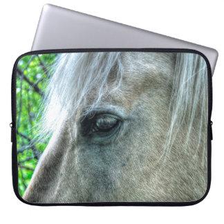 White Pegasus Horse's Eye Animal-lover Photo Laptop Sleeve