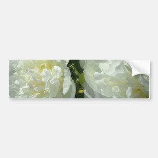 White Peonies Bumper Sticker