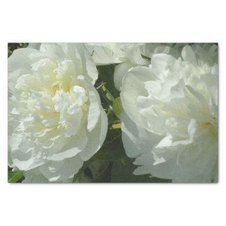 White Peonies Tissue Paper