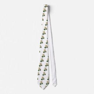 White Peony By Pierre Joseph Redoute Tie