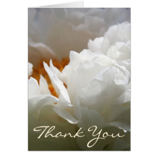 White Peony Floral Photography Thank You Note card