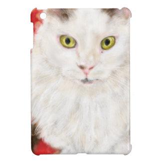 White Persian cat on a red Persian carpet iPad Mini Cover