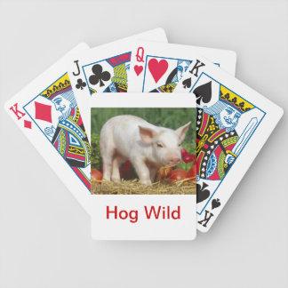 White Pig Hog Wild Playing Cards